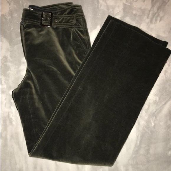 2afab9d8 Armani Collezioni Velvet Green Pants Size 6 RARE